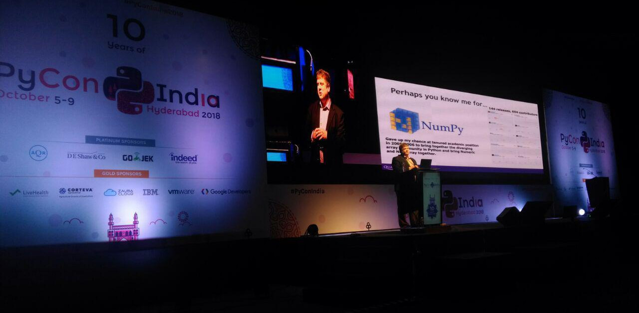 Travis Oliphant's keynote speech at Pycon India 2018